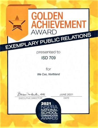 2021 NSPRA Golden Achievement Award