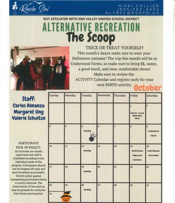 Rancho Simi Alternative Recreation Program