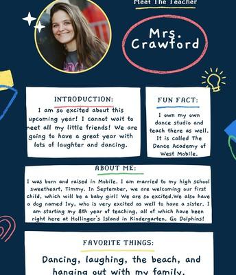 Mrs. Crawford, Kindergarten