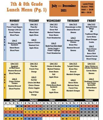 Lunch Menu (pg. 1)