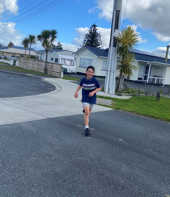 Reece doing the cross country solo