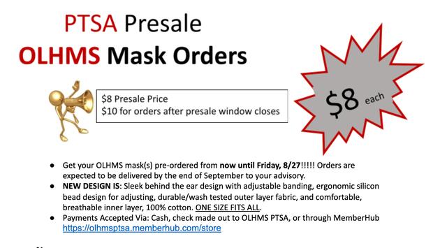 PTSA OLHMS MASK Pre Orders