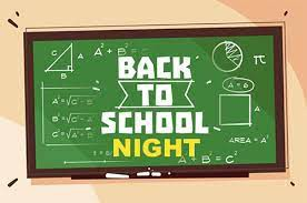 Back to School Night - Save the Date