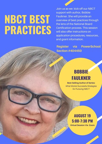 August 19, 2021: Kick-off Session for UA/UWA NBCT Support with Special Guest, Bobbie Faulkner