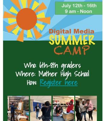 Digital Media Summer Camp for 6th - 8th grade