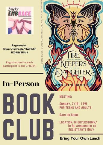 bucksEMBRACE July Book Club Meeting