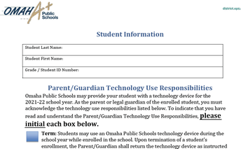 Have you turned in your Technology Agreement?