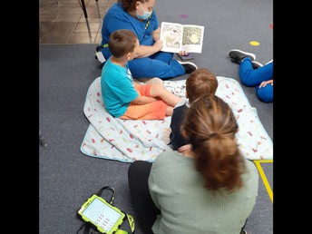 Reading buddies on mismatch day!