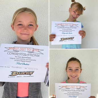 2nd Grade Shout Out Award Winners