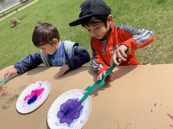 Pathways painting outside!