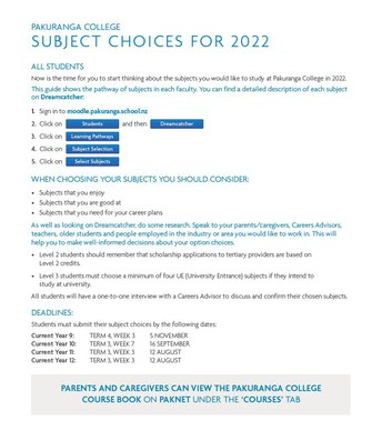 How to Choose Your Subjects