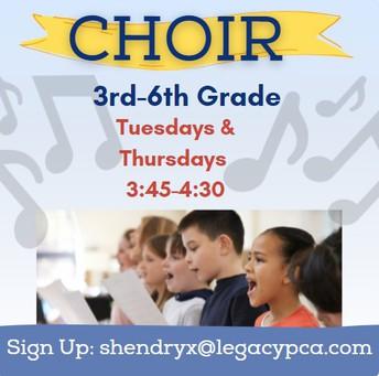 Choir 3rd-6th Grade Students