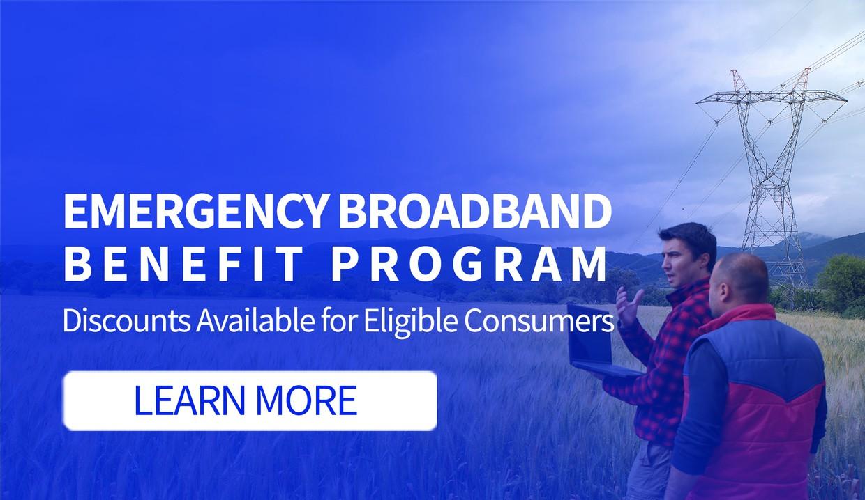 Learn about emergency broadband