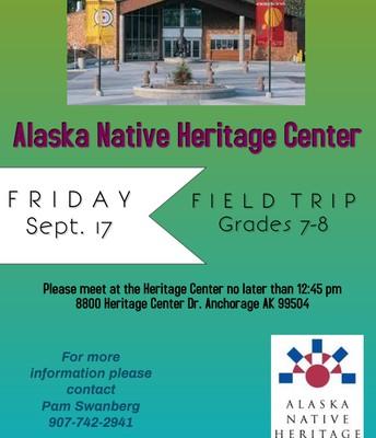 Alaska Native Heritage Center, Grades 7-8