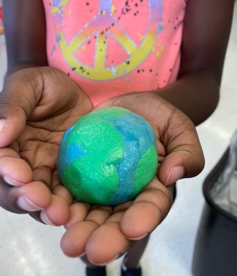 Making a replica of earth from playdough!