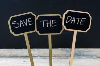 Important Dates Ahead