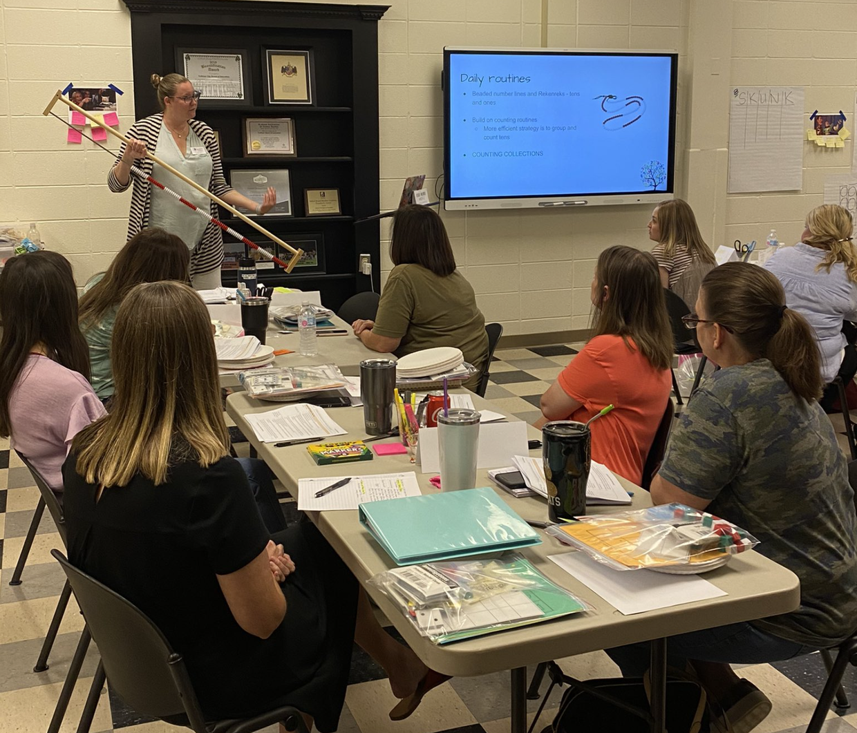 Teachers in PD at the central office