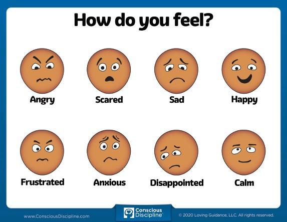 Conscious Discipline How Do You Feel Chart