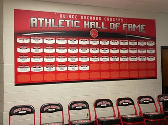 QOHS Athletic Hall of Fame Wall