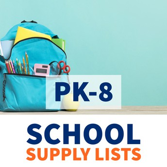 PK-8 School Supply Lists