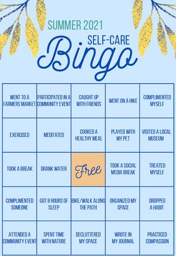Summer Self-Care Bingo by ESD 123