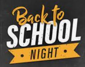 Back to School Night-September 9th