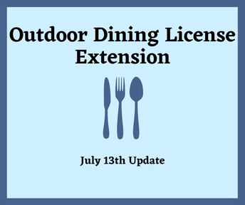 Outdoor Dining License Extension