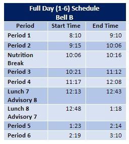 Full Day:  Bell B