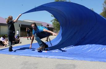 Principal Bailey catching a wave!