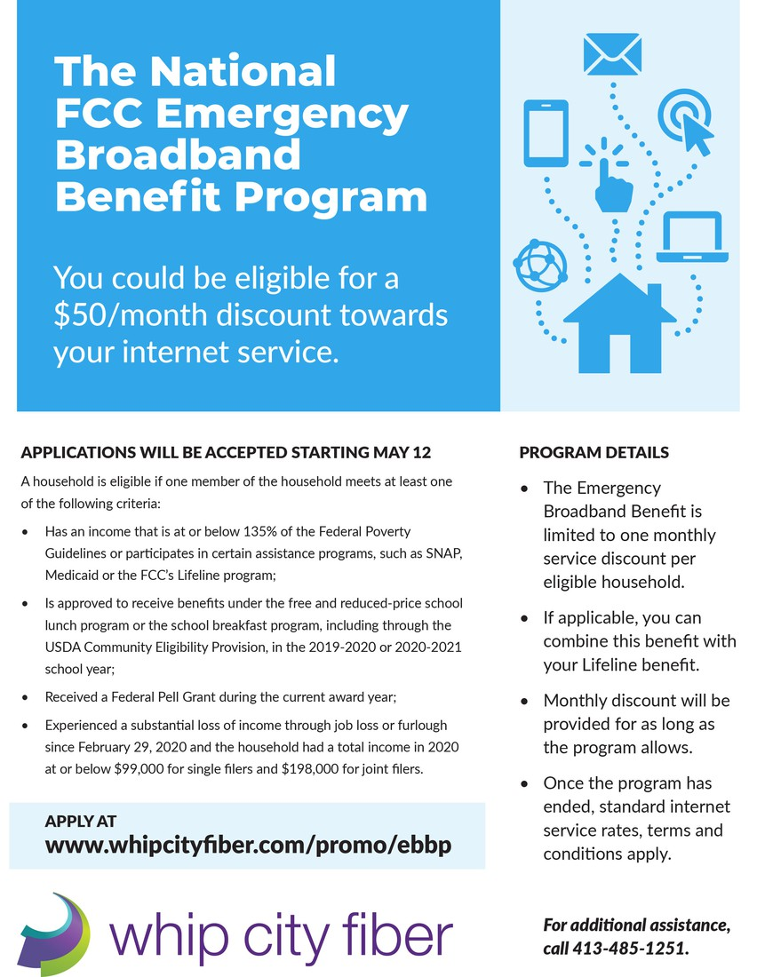 Please click link to view PDF Broadband Benefit Program flyer