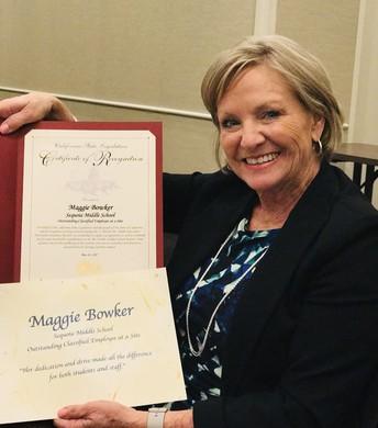 Congratulations Mrs. Bowker!