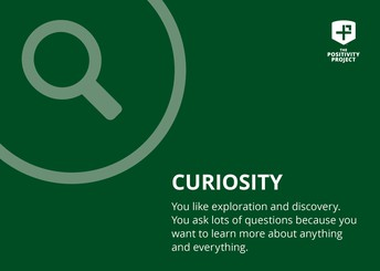 The character trait this week is curiosity!