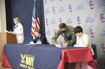 SCHS Celebrates Military Enlistments