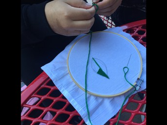 learning how to embroider...
