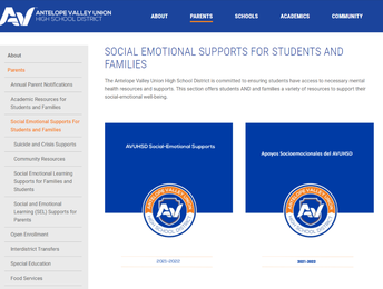 Student and Family Resources