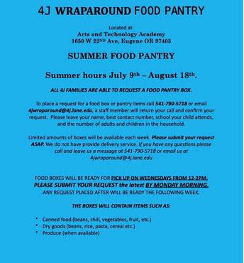 4J Summer Food Pantry