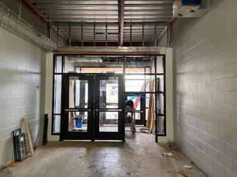 Preschool Entrance---check out the small door!