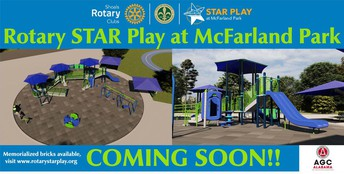 Groundbreaking Ceremony for Rotary STAR Play Area at McFarland Park