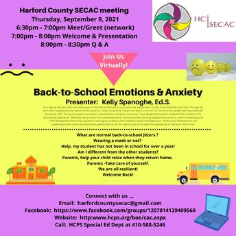 Harford County SECAC Meeting