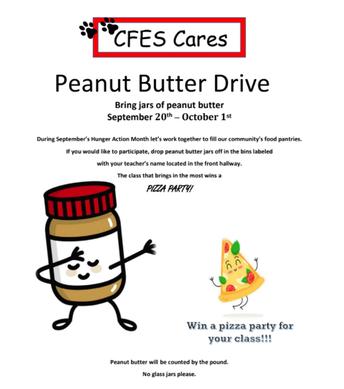 CFES Cares Peanut Butter Drive
