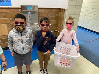 1st Grade Cuties in their shades from Aramark!