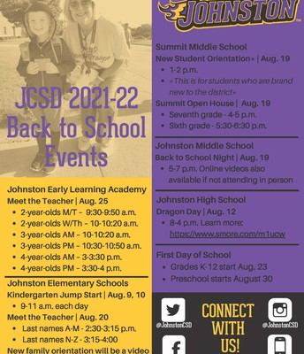 Back-to-School Events and Dates