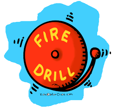 FIRE DRILL, Friday 9/17 at 9:00 am