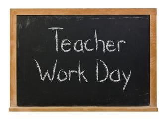 Teacher Work Day - September 3rd