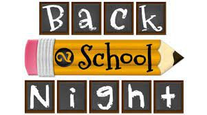 Back to School Night - August 19, 2021- VIRTUAL EVENT
