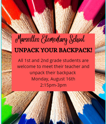 Unpack Your Backpack 1st & 2nd Grade!