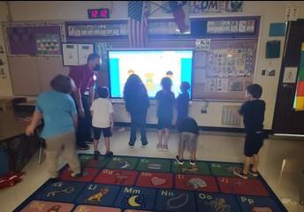Mr. Cueva's Class Enjoying Their Morning Routine!