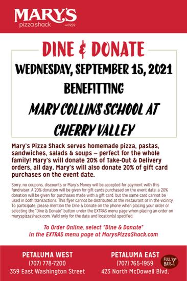 PTA Dine + Donate: Mary's Pizza Shack