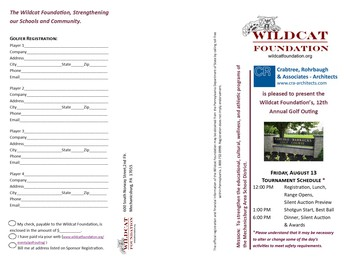 Register Today!  12th Annual Golf Outing, August 13, 2021