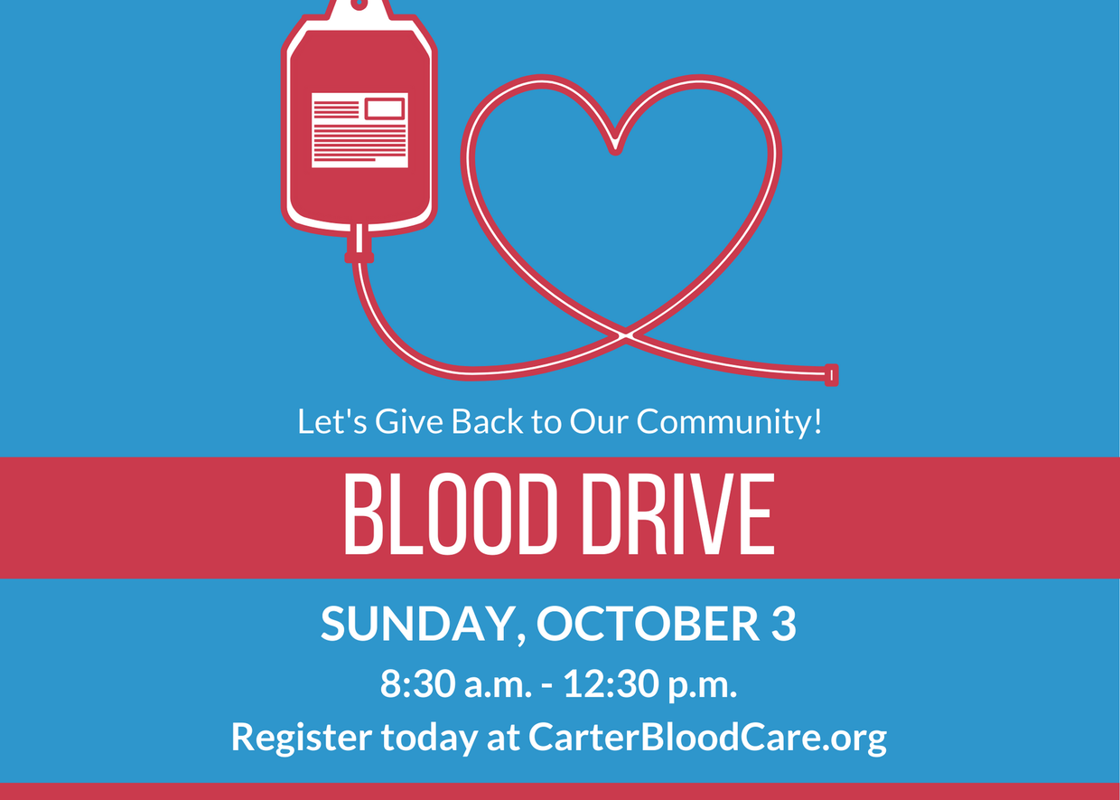 Blood Drive on October 3